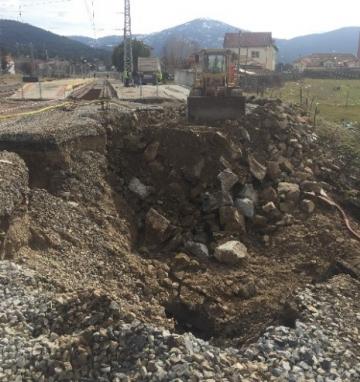 Escollera de protección y restauración de terraplén tras riada